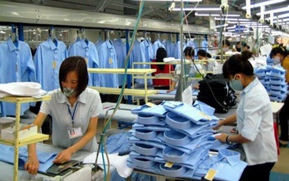 一紡織品成衣生產線。(圖源:互聯網)