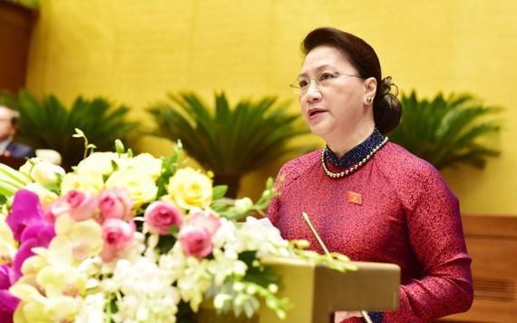 國會主席阮氏金銀獲選為國家選舉委員會主席。(圖源:VOV)