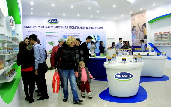 Vinamilk公司於2015年起在俄羅斯展銷產品和實行貿易促進活動。