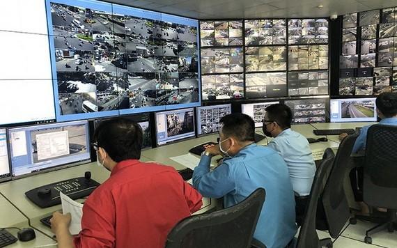 對市中心區14條街道實施非現場處罰的監控攝像系統。