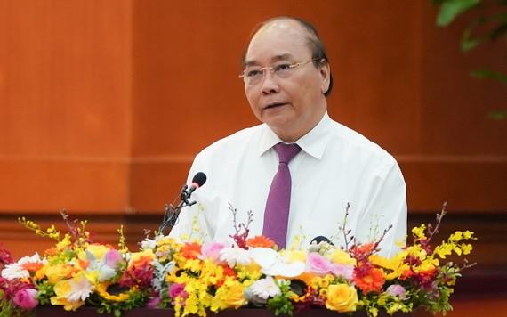 政府總理阮春福會上致詞。(圖源:VGP)