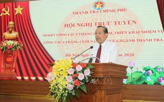 政府常務副總理張和平在會上發表講話。(圖源:越通社)