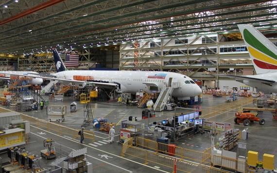 美國波音飛機製造廠一隅。(圖源:Getty Images)