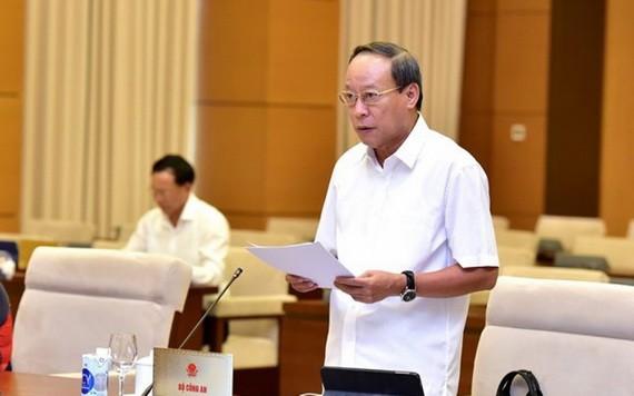 公安部副部長黎貴王上將在會上發言。(圖源:玉成)