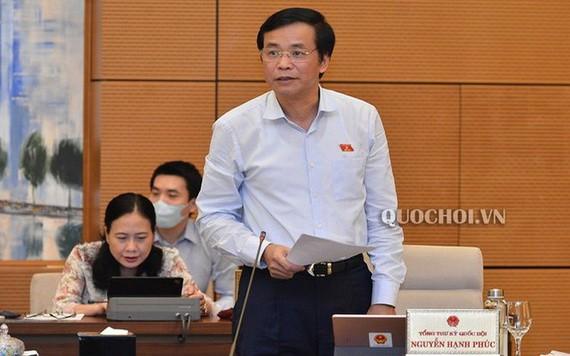 國會秘書長阮幸福在會上發言。(圖源:Quochoi.vn)