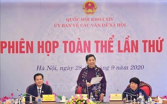 國會常務副主席從氏放在會議上發表指導意見。(圖源:越通社)