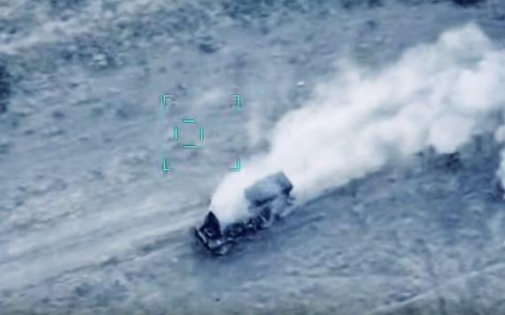 阿塞拜疆公開多段轟炸亞美尼亞軍人或軍事設備的影片,衝突在納卡地區 發生。(圖源:互聯網)