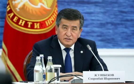 吉爾吉斯斯坦總統熱恩別科夫14日表示,他將在議會舉行重新選舉後辭職。(圖源:Sputnik)