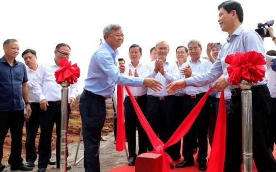 隆城國際航空港建設場地移交儀式。(圖源:P.T)