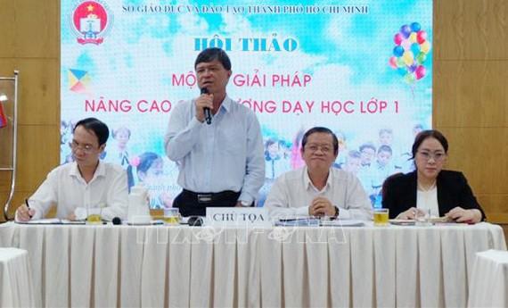 市教育與培訓廳副廳長阮文孝在討論會上發言。(圖源:越通社)