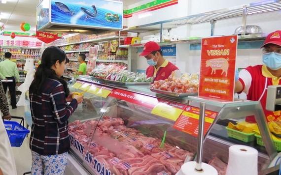 Co.opmart連鎖超市售賣平抑價格的豬肉。