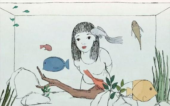 在越南-歐洲紀錄片電影節上介紹的《小姑娘》一片。