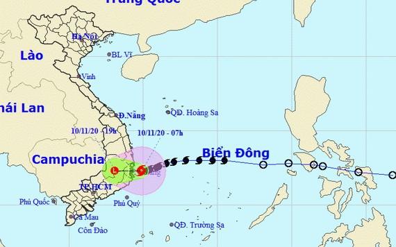 圖為12號颱風移動方向。(圖源:國家水文氣象預報中心)