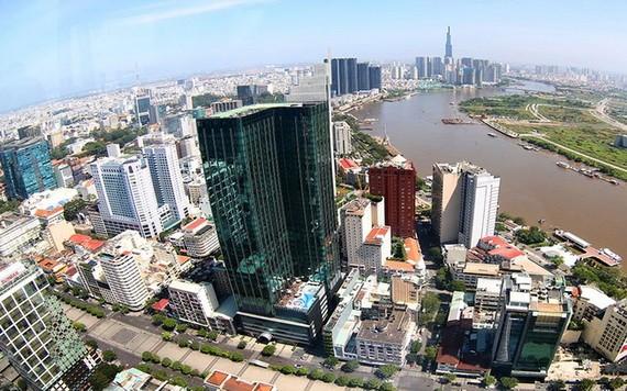 位於市中心的高層住房。