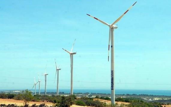 圖為平順省綏豐縣風電體系。(圖源:越通社)
