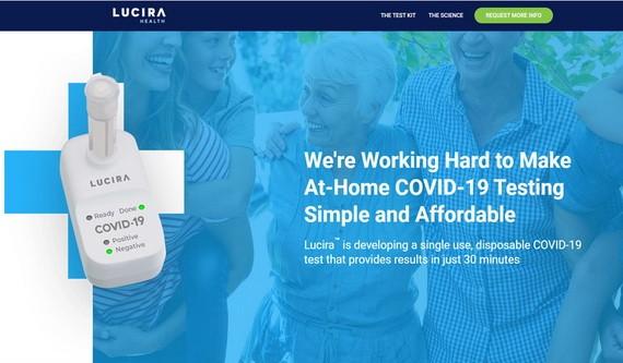 FDA准用首款快速自我檢測試劑,30分鐘知結果。(圖源:Lucira Health網站截圖)