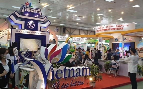 越南國際旅遊展銷會一隅。(圖源:越通社)