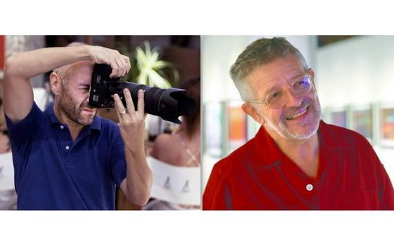 攝影師亞歷山大‧加雷爾(左)和菲利普‧范登伯格。