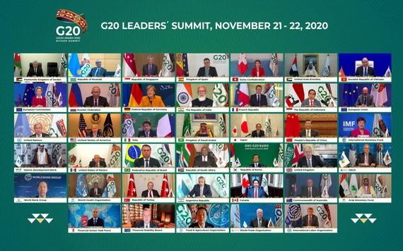 各國領導人出席G20峰會線上會議。(圖源:互聯網)