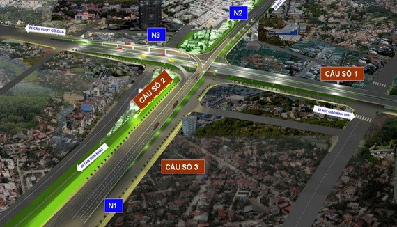 交通委員會提供的范文同街-第二環市路交通樞紐配景圖。