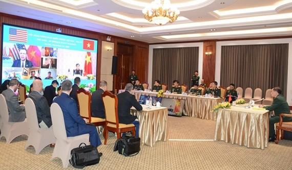 越-美國防政策對話會議現場。(圖源:人民報)