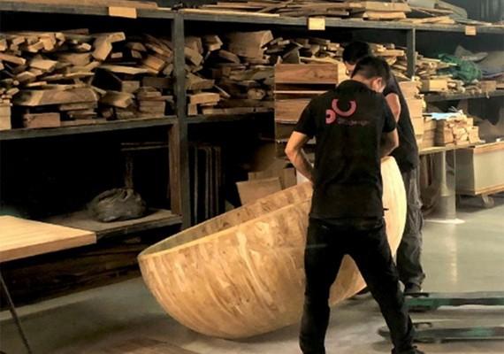 利用木屑來設計的一種產品。