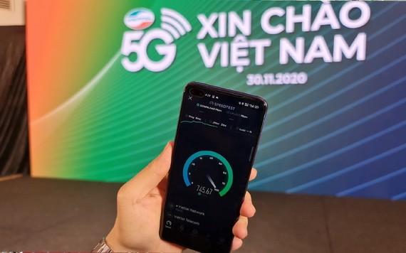 11月30日,Viettel 正式試行運營5G網絡。(圖源:德鄭)