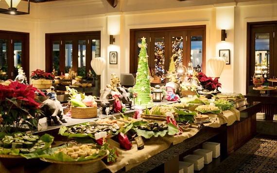 The Anam度假區的聖誕與新年盛宴。