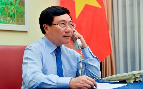 政府副總理、外交部長范平明。(圖源:孟雄)