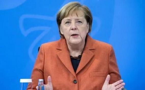 德國總理默克爾在記者會上。(圖源:互聯網)