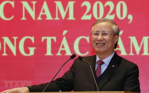黨中央書記處常務書記陳國旺在會上發表指導意見。(圖源:越通社)