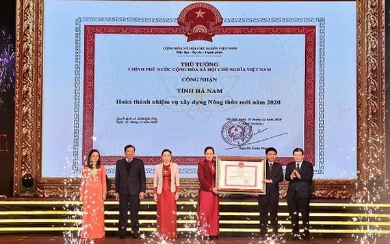 河南省完成2020年新農村建設任務公認證書迎接儀式。(圖源:VGP)