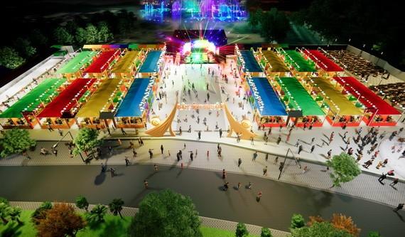 第十一郡步行街與蓮潭購物與娛樂廣場配景圖。