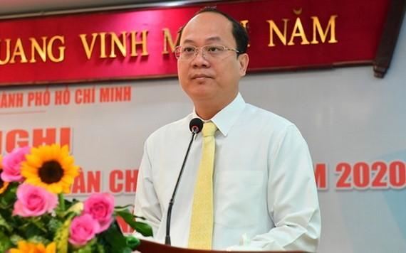 市委副書記阮胡海在會議上發言。(圖源:越勇)