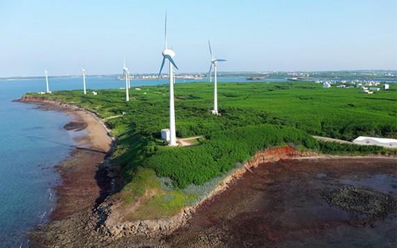 澎湖縣白沙鄉的風力發電設施。