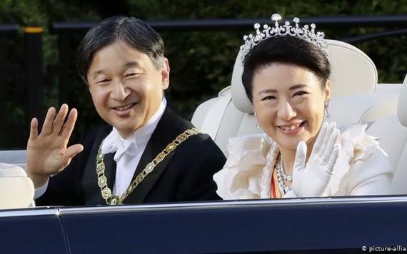 日本天皇德仁伉儷。(圖源:共同社)