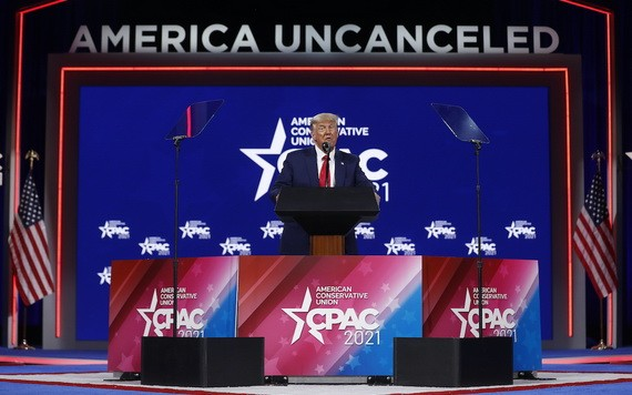 特朗普參加保守派政治行動會議並發表演講。(圖源:路透社)