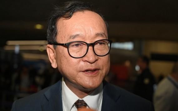 柬埔寨原救國黨領袖桑蘭西。(圖源:Wikipedia)