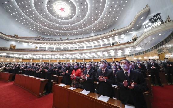 3月4日下午,中國全國政協十三屆四次會議在首都北京人民大會堂開幕。(圖源:新華社)