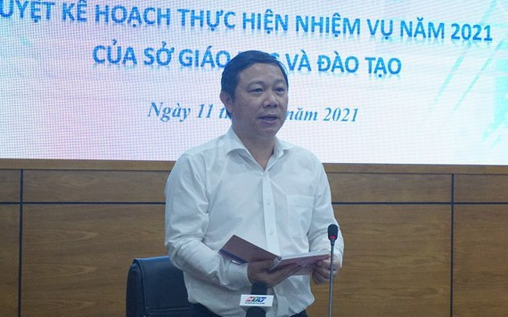 市人委會副主席楊英德在會上發表指導意見。(圖源:阮娟)