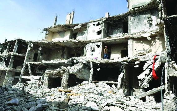 敘利亞很多建築物都被戰火損毀。(圖源:互聯網)