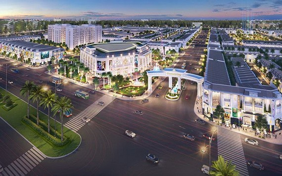 图为距离隆城机场约2公里的Century City 项目透视效果图。(图源:映阳)