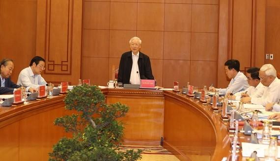 總書記、國家主席阮富仲主持會議。(圖源:越通社)