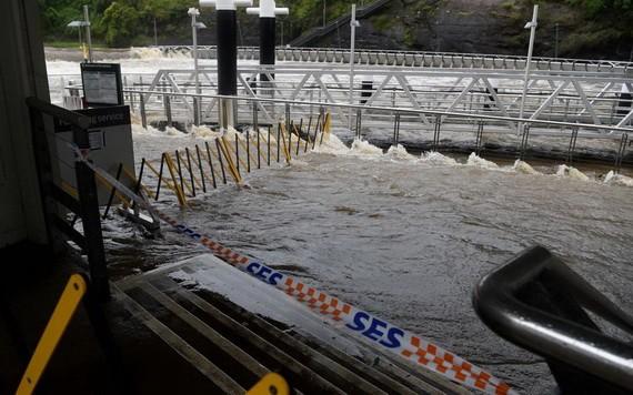 新南威爾士州中北部沿海地區連日來遭遇強降雨,導致河流水面上漲,多處出現溢水,交通受到嚴重影響。(圖源:NCA)