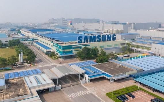 越南三星电子工厂一瞥。