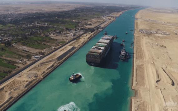 埃及蘇伊士運河一瞥。(圖源:互聯網)