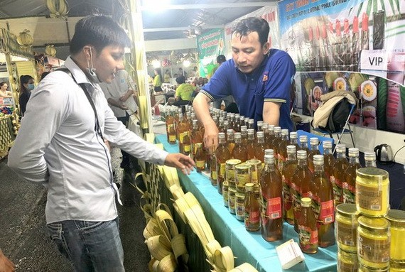 檳椥省的OCOP商品參加貿易促進博覽會。