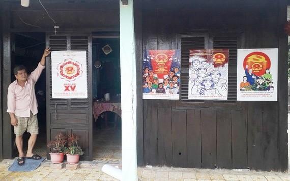 設在芹耶縣安泰東鄉安和村第二十三組潘文清住房的投票站。