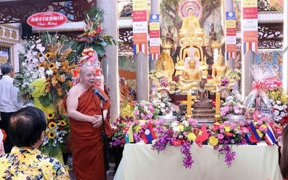 柬老緬泰傳統新年慶祝活動現場一瞥。(圖源:越通社)