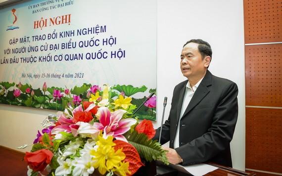 國會常務副主席陳清敏在會上致開幕詞。(圖源:英芳)